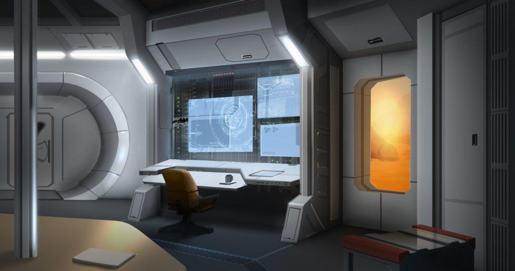 mars reality show base-interior
