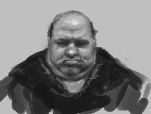 fat guy face